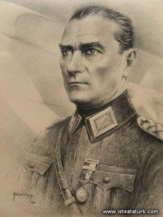 İşte Atatürk Great Leaders, Art Drawings, Drawing Art, Drawing Ideas, Embedded Image Permalink, Artist, Charcoal Drawings, Painting Art, Iphone