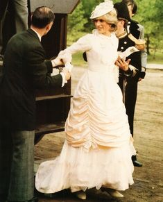 Lovely Princess Diana Tumblr: In a Klondike costume for a visit to Canada in 1983 ... beautiful dress!