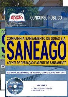 Promoção -  Apostila Concurso SANEAGO 2018 - AGENTE DE OPERAÇÃO E AGENTE DE SANEAMENTO  #apostilas