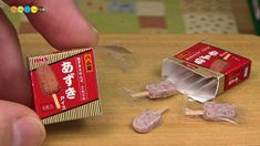 DIY Miniature Red Bean Ice Cream Bar あずきバー風ミニチュアアイス作り Fake food - YouTube