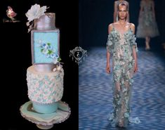My contribution to Couture Cakers International 2018 Collaboration. This is the first time I have participated fashion based wedding cake collaboration where I have chosen my inspiration from New York famous brand Marchesa's spring collection Wedding Cake Designs, Wedding Cakes, Bridal Party Dresses, Wedding Dresses, Fashion 2017, Fashion Show, Cake Art, Art Cakes, Dress Cake