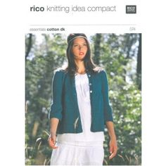 Ladies Cardigan with Puffed Sleeves in Rico Essentials Cotton Dk really want this pattern.