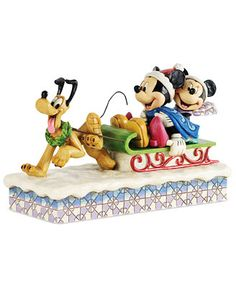 Jim Shore Mickey & Minnie on Sled Collectible Disney Figurine