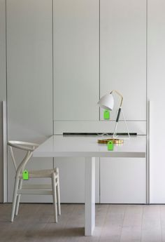 Hideaway / Fold away Desk - White Fold Away Desk, Fold Out Desk, Spare Bedroom Office, Bedroom Wardrobe, Garden Office, Home Office, White Desks, Study Desk, Crafty