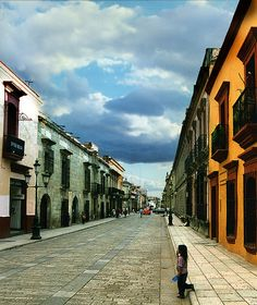 Oaxaca | Mexico, a home in my heart.  My friend's dad works in the yellow building.. I think