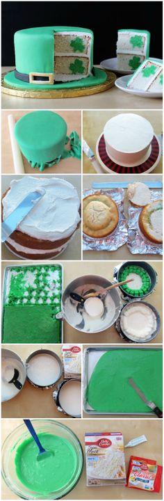 Leprechaun Hat Reveal Cake