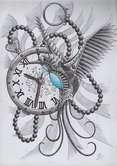 Find this Pin and more on Tattoo Ideas. Very often Steampunk Eye Clock Tattoo Design . Tattoo Drawings, Body Art Tattoos, New Tattoos, Clock Tattoos, Bird Tattoo Sleeves, Sleeve Tattoos, Clock Tattoo Design, Tattoo Designs, Steampunk Tattoo Design