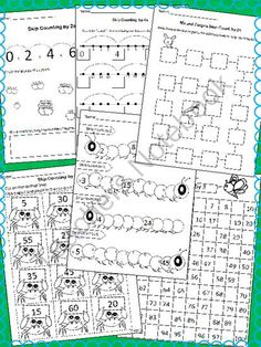 Skip Counting Numbers  2, 3,4 & 5 - Worksheets & Flashcards product from mzmary on TeachersNotebook.com