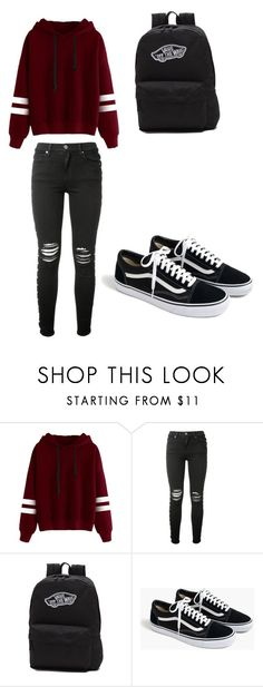 """""""Outfits for school"""" by bellamae862 ❤ liked on Polyvore featuring AMIRI, Vans and J.Crew"""