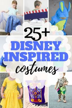 Sew up or craft together a DIY Disney costume with one of these 25 plus tutorials. Tunic Tutorial, Costume Tutorial, Family Costumes, Baby Costumes, Woody And Jessie Costumes, Anna Coronation Dress, Fall Sewing, Dress Up Day, Bunny Costume