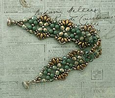 Bracelets Embroidery Linda's Crafty Inspirations: Bracelet of the Day: Flutter - Seafoam Beaded Bracelets Tutorial, Seed Bead Bracelets, Silver Bracelets, Jewelry Bracelets, Jewelry Crafts, Bead Jewellery, Seed Bead Jewelry, Seed Beads, Beading Jewelry