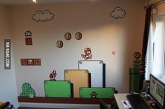 My Super Mario Bros. 3 wall art is complete!