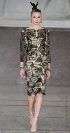 Brocade Brigade    There was a common golden thread running through the season. Dries Van Noten, Marni's Consuelo Castiglioni, and Olivier Rousteing at Balmain channeled baroque opulence with rich brocades and embellishments