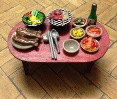 Miniature korean food