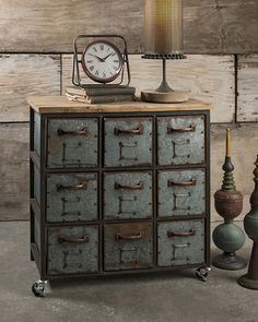 Franklin Steampunk Dresser   Unique Modern Furniture   Dot U0026 Bo Under The  Thermostat