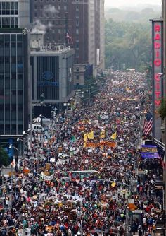 "Next time you hear someone say ""no one gives a shit about climate change,"" show them this photo. #PeoplesClimate"
