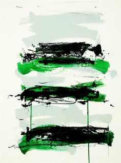 Joan Mitchell - Champs (Gray, Black, and Green)
