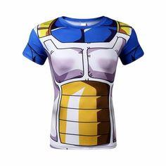 Vegeta Saiyan armor 3D T-Shirt front view
