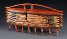 Centipede Box: Bubinga and Chinaberry: Chinaberry View