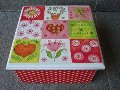 Naranja y Fucsia: Caja de Te
