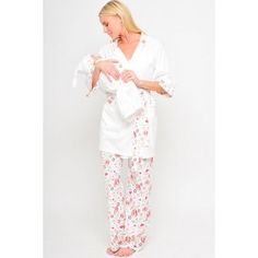 21ce3fc9457d7 Cute Olian Maternity Hearts 4 Piece Nursing Pajama Set for $104.00. Comfy  matching set for. TummyStyle Maternity & Baby