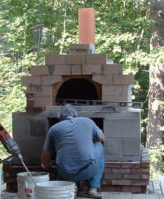 Wood-fired pizza oven Diy Pizza Oven, Pizza Ovens, Wood Pizza, Wood Fired Pizza, Grill Oven, Bbq Grill, Outdoor Projects, Garden Projects, Brick Ovens