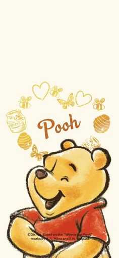 Winnie The Pooh Drawing, Winnie The Pooh Pictures, Cute Winnie The Pooh, Winnie The Pooh Friends, Cute Bear Drawings, Cute Cartoon Drawings, Winnie The Pooh Background, Winie The Pooh, Animated Disney Characters
