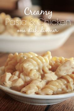 Sharing a family-friendly recipe for an easy pasta dish & chicken dinner idea. Rotini noodles, alfredo sauce, Italian seasonings, and plenty of mozzarella cheese. Discover (and save!) your own pins on (Chicken Dishes Pasta) Chicken Pasta Dishes, Easy Pasta Dishes, Food Dishes, Chicken Recipes, Dishes Recipes, Hamburger Recipes, Food Food, Main Dishes, Side Dishes