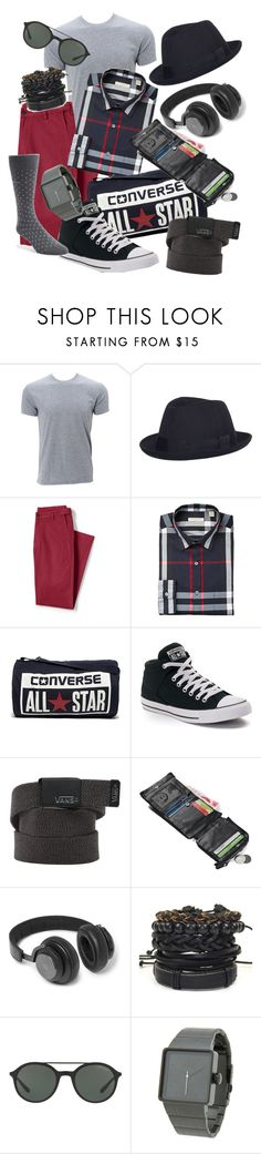 """""""Black, white and red"""" by sergio-amorim ❤ liked on Polyvore featuring Comme des Garçons SHIRT, Lands' End, Converse, Vans, B&O Play, Giorgio Armani, Nixon, Calvin Klein, men's fashion and menswear"""