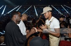 Sean Combs and Chance the Rapper attend the 2016 MTV Music Video Awards at Madison Square Gareden on August 28, 2016 in New York City.