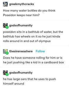 Percy Jackson Cast, Percy Jackson Memes, Percy Jackson Books, Percy Jackson Fandom, Stupid Funny Memes, Funny Posts, Greek Mythology Humor, Greek Memes, Lore Olympus