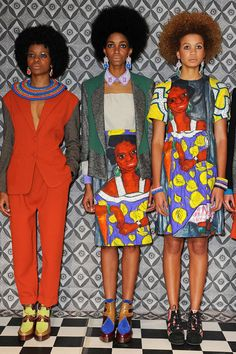 three women in african style, Taka Naka, AFRICAN FASHION WEEK LONDON 2012