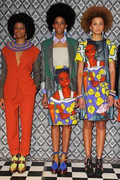 three women in african style, Taka Naka, AFRICAN FASHION WEEK LONDON 2012