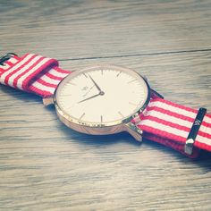 A red and white mix Nato strap represents the youth and vigor, it's an attitude…