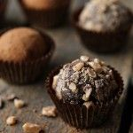 Dark Chocolate Toffee Truffles | My Baking Addiction