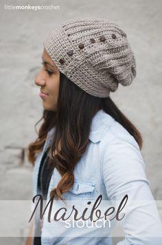 Maribel Slouch Crochet Hat  |  Free Slouchy Hat Crochet Pattern by Little Monkeys Crochet