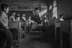 Gaming During Recess (Remarkable Award In Open Monochrome Category)