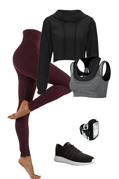 Fitness Outfits, Cute Workout Outfits, Cute Lazy Outfits, Workout Attire, Womens Workout Outfits, Sporty Outfits, Athletic Outfits, Teen Fashion Outfits, Mode Outfits