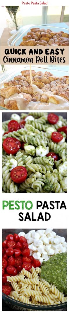 Pesto Pasta Salad is the perfect quick and tasty side dish! Made with flavorful pesto, spiral noodles, fresh mozzarella and juicy cherry tomatoes. Cardamon Recipes, Spiral Noodles, Pesto Pasta Salad, Fresh Mozzarella, Quick Recipes, Cherry Tomatoes, Cinnamon Rolls, Cobb Salad, Side Dishes
