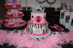 My daughter's cake for her zebra and pink party