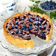 Smarrig paj med blåbär och maräng. Måste bara prövas
