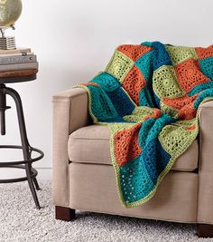 Patchwork Blanket free crochet pattern More
