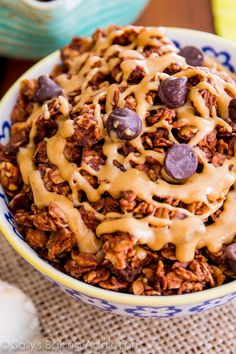 An easy recipe for healthy chocolate peanut butter lovers' granola.