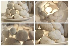 Homemade stone candle holder (projects, crafts, DIY, do it yourself, interior design, home decor, fun, creative, uses, use, ideas, inspiration, handmade, homemade, materials, create)