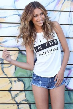 LIVE IN THE SUNSHINE MUSCLE TEE WHITE