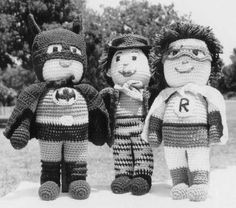 crochet batman and robin - Free Pattern - So very cute!!!