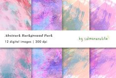 12 Abstract Texture Backgrounds by salmanarulita on @creativemarket