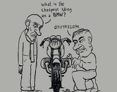 Men's BMW motorcycle rider cartoon shirt by nealart2 on Etsy