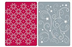 #afflink Amazon.com Sizzix Textured Impressions Embossing Folders 2PK - Flowers, Stars & Swirls Set by Rachael Bright