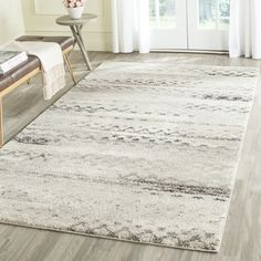 Safavieh Retro Cream/ Grey Rug (8' x 10') - Overstock Shopping - Great Deals on Safavieh 7x9 - 10x14 Rugs